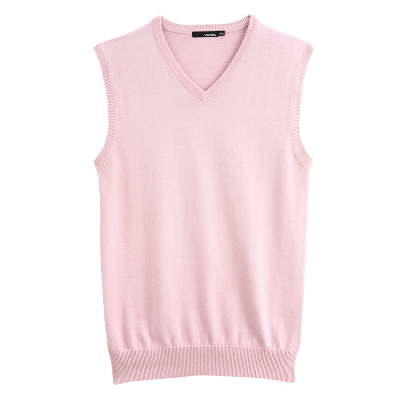 Man Pink Sweater Vest - Sweater Grey