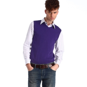 Purple Sweater Vest - Sweater Grey