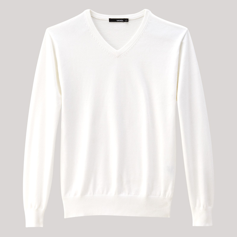 White V Neck Sweater