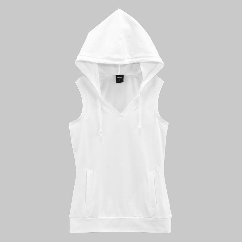 Buy VANCL Sleeveless Sports Hoodie Sweater (Women's) White SKU