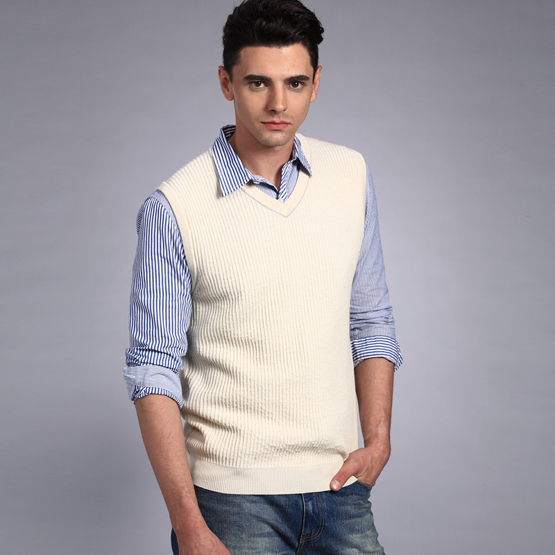 Sweater Vest Pictures Wool Sweater Vest(men