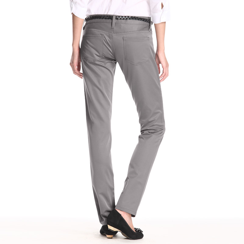 vancl slim cut business casual pants s gray sku