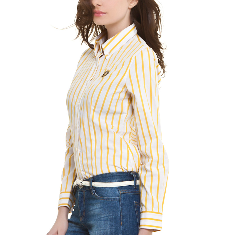VANCL Button Down Shirt s Yellow Stripes SKU 51107 – Wholesale ...