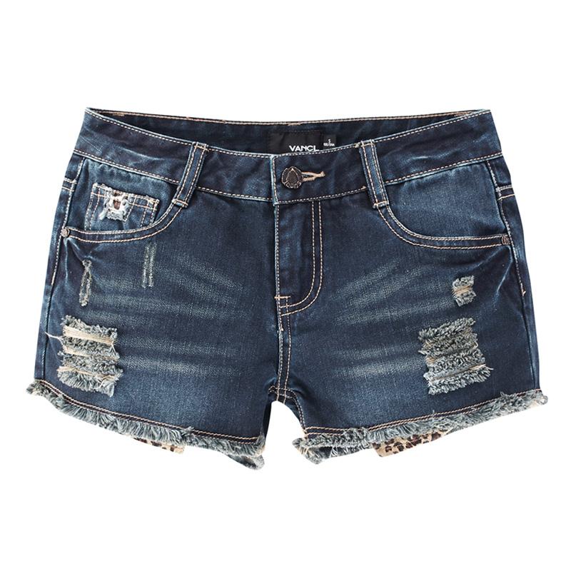 vancl denim jean mini shorts w019 dark blue sku