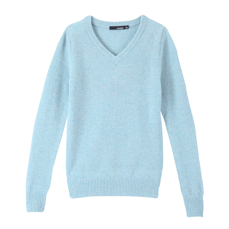 Women'S Light Blue Sweater - Cashmere Sweater England