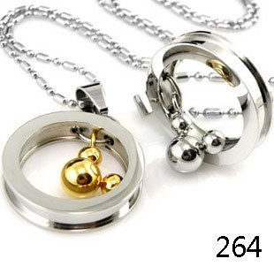 Style stainless steel jewelry mickey pendants two wholesale free free shipping new style stainless steel jewelry wholesalemickey pendants two color for lovers mozeypictures Choice Image
