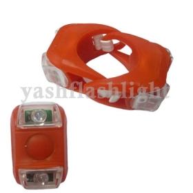 freeshipping 1set(2pcs)X Waterproof Double frog LED Light Silicone Bicycle Light
