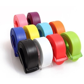 50pcs/lot New Arrival Adult Fashion Silicone belt Fashion candy jelly belt Width 3.3CM DHL Free shipping
