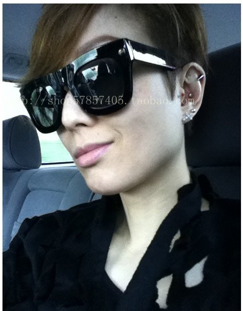 2012 fashion women sunglasses big frame scrub glasses free shipping 1pc retail