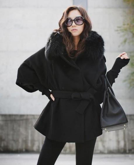 Fur Black Jacket