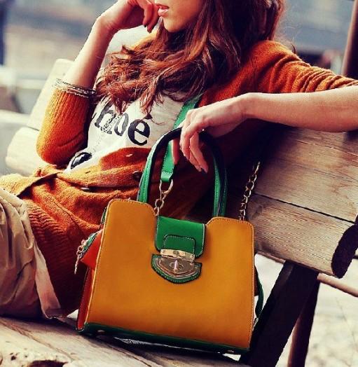 6b67cb9eaedd Free Shipping Fashion Women Hit the color the postman bags handbag shoulder  bag handbags M16-