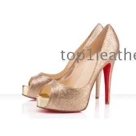 Gold Colored Heels - Qu Heel
