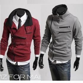 Free Shipping Men's Fashion Top Designed Outwear Hoody Jacket Coat