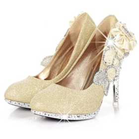 2012 New Ladies Shoes Wedding Red Gold Dress Shoes Sexy High Heels Party  Pumps 184