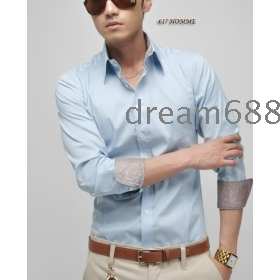 free shipping brand new men's Pure cotton clothing long-sleeved T-shirt shirts size M L XL rr1