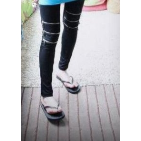 hot sale!!! brand new women's Article 3 the knee zipper render nine minutes of pants pants of pure cotton Z3