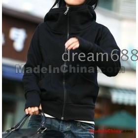goodagain668 brand new women's high-necked catch hair zipper with finger guard hair sweater garment cap coa h3