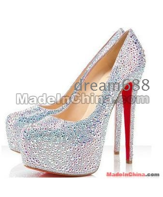 shoes high diamond wedding shoes high-heeled shoes size 34 35 36 37 38