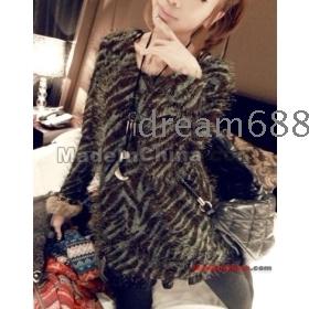 free shipping brand new women's Plush zebra grain render plush unlined upper garment goodagain668