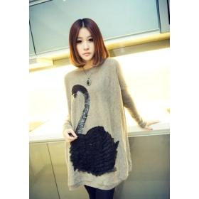 Promotion price !!! free shipping new women's Loose grows knitting garment u7