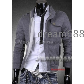 free shipping new MEN'S Catch hair thickening zipper LiLing cultivate one's morality army coat jackets size S M L XL goodagain668