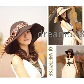 Promotion price!!! free shipping brand new women's Summer uv beautiful big flowers along cap bask cap w6