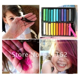 Hairchalkin 36 Colors Temporary Hair Chalk Set Non Toxic Rainbow Colored Dye Pastel Kit 11street Malaysia