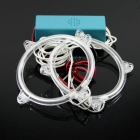 FreeShipping 2 pcs Flexible Durable Waterproof Super Bright LED Ring Lights for Car Vehicle Automobile
