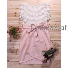 Summer wear new han edition female sweet  temperament bud silk bowknot sleeveless fair maiden dress