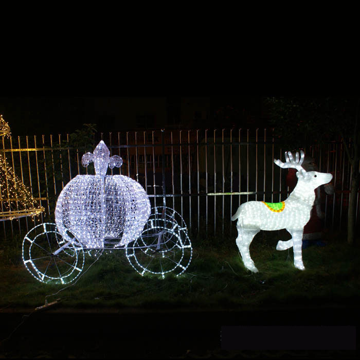 Christmas Lighted Horse Carriage Outdoor Decoration : Cm feet chip resistant giant lighted led