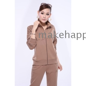 The new spring clothing, sport suit female pure cotton sportswear female spring suit sportswear