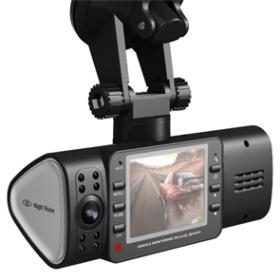 NEW Car DVR AT50 3.0MP CMOS Dual Lens Rotate 270 degree Car Camcorder 2.5 inch DVR Camera Free Shipping