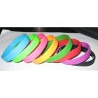 Free Shipping 100pcs/lot Energy Power Silicone Bracelet Two Holograms Wristband Band