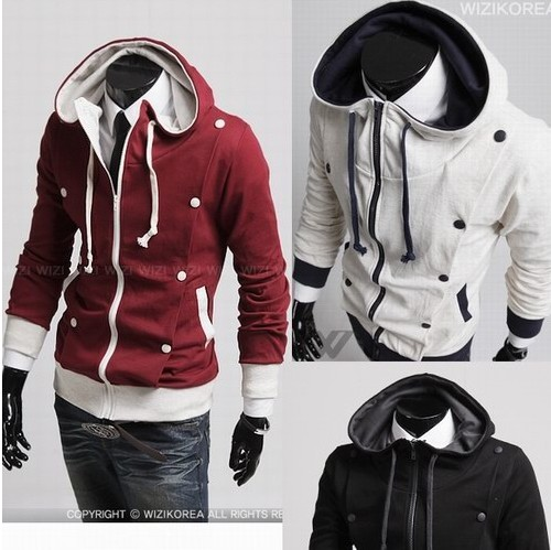 Men Fashion Jacket Dress Wear Fashion Korean men s hooded