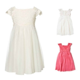 Buy Monsoon Children Girls Dresses Delicate Openwork