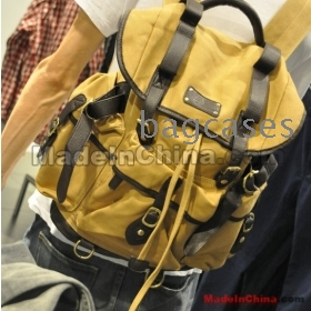 Free shipping thick canvas laptop backpack han edition canvas bag by men's new male recreation bag