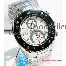 Free shipping supply personality man with new source of electronic steel watch factory direct sale 144269