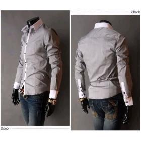 Free Shipping New Mens Shirts Casual Slim Fit Stylish Dress Shirts US Size:S,M,L,XL