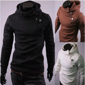 New England fashion Korean casual Korean foreign trade large size men's hooded sweater