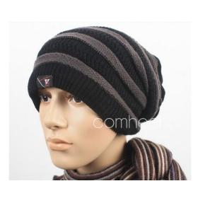 Men warm winter hat wool knitted cap hat  #