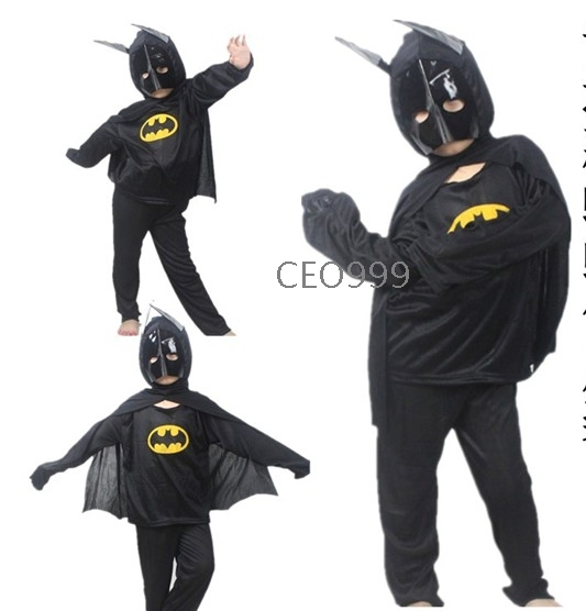 Free shipping children batman suit halloween performances costumes