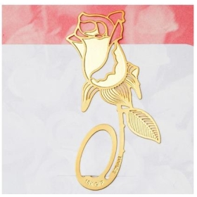 18 K gold-plated lovely bookmarks-rose