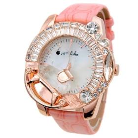 Tong zhen watch 2011 new female table Trojan large dial female watch pink watch 8475