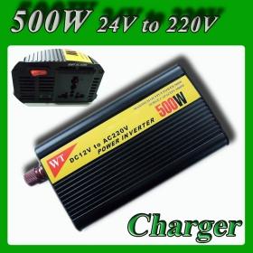 Meind Modified Sine Wave Car Power Inverter 500W DC 24V to AC 220V 230V 240V Power converter with battery charge function