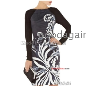 free shipping new women's Sexy After long-sleeved dress sexy V cultivate one's morality dress
