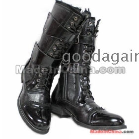 hot sale!!! best selling men's fashion thick leather boots cowboy boots  boot size 38 39 40 41 42 43