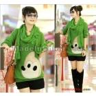 Women's fashion cartoon ATong rat medium style sweater send scarf