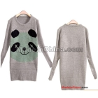 Grow a panda round collar warm cultivate one's morality long sleeve hedge backing sweater sweater