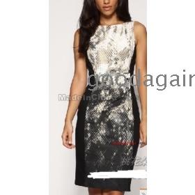 free shipping new women's Sexy snake grain printing waist cotton dress