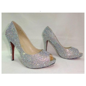 Buy Free shipping/New 4 inch heels crystal platform shoes high ...